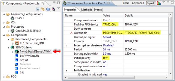 Servo1 PWM Configuration
