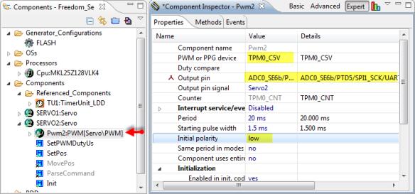Servo2 PWM Configuration