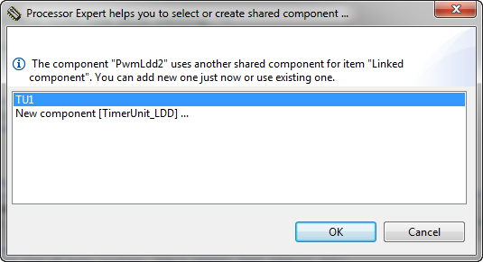 Shared Component Dialog
