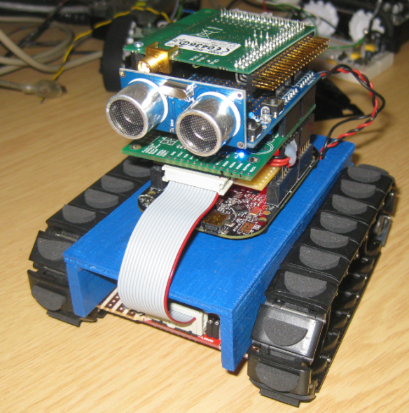 Tracked Robot with Ultrasonic Sensor