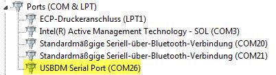 USBDM Serial Port