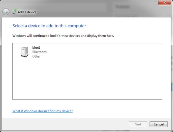 Add a device Dialog