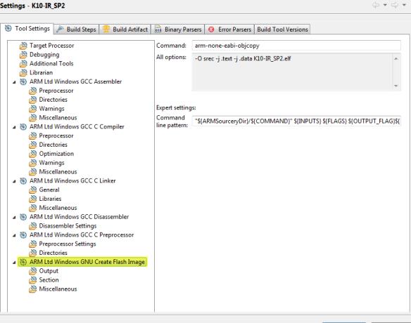 ARM GNU Create Flash Image