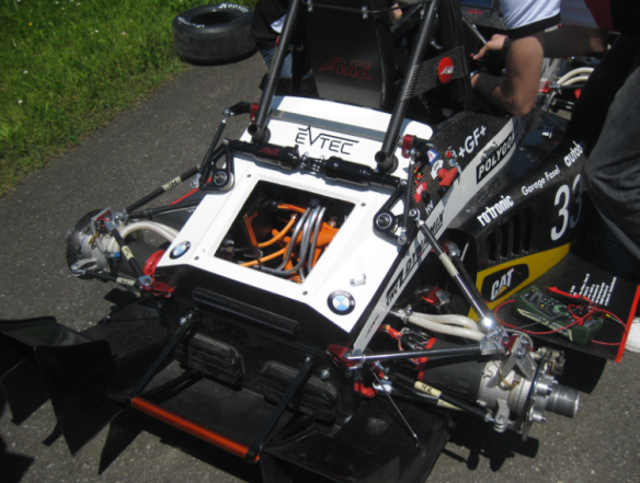 Chassis with open battery compartment