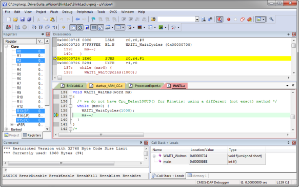 Debugging the Processor Expert Application