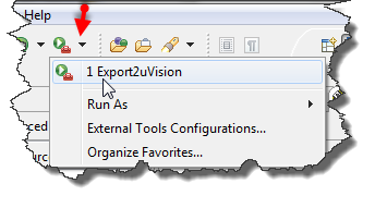 Export2uVision with recent launch