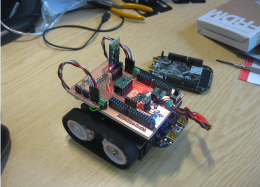 FRDM-Robot with Quadrature Sensors Mounted