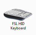 FSL HID Keyboard in the Windows Device Manager