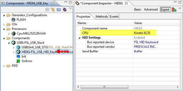 FSL_USB_HID_Keyboard CPU Configured