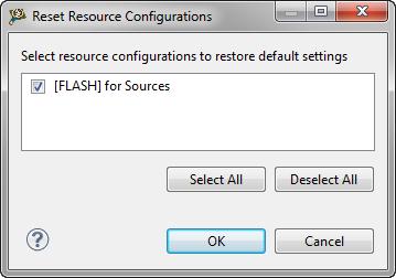 Reset Resource Configuration