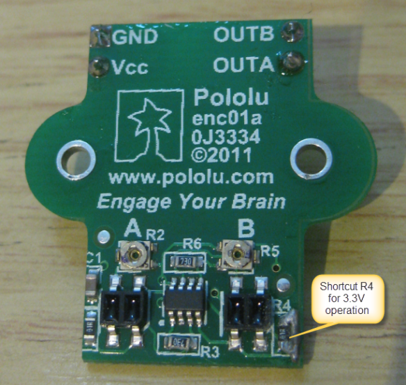 Shortcut R4 on Pololu Encoder Sensor