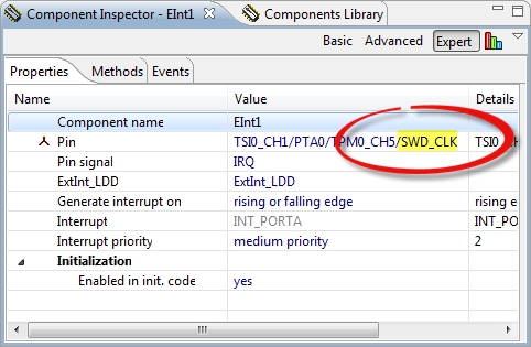 SWD_CLK used as interrupt pin