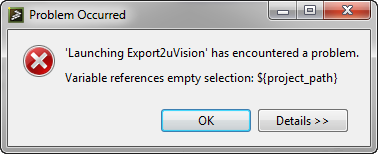 Variable references empty selection