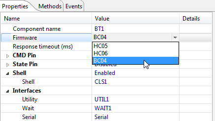BC04 Bluetooth Firmware Selection