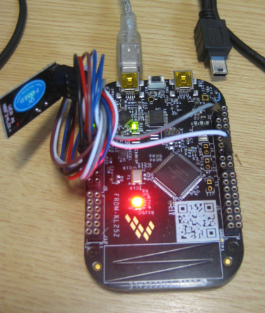Blinking Red RGB LED made with free tools