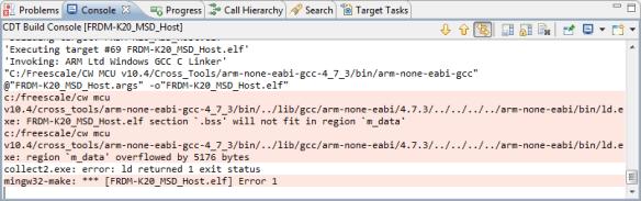bss will not fit in region m_data