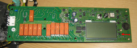 Front Side of the Panel with Button