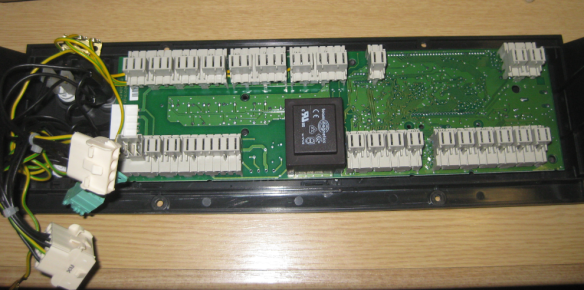 Hoval Control Panel with Cover removed