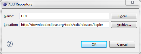 Kepler CDT Update Site