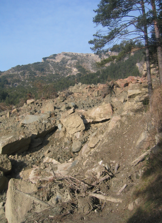 Landslide in 2005