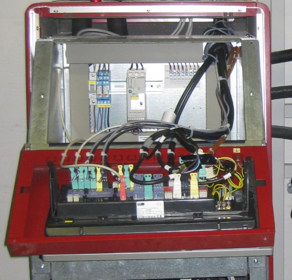Open Heat Pump with Backside of Control Panel