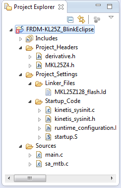 Project Explorer with Project Files