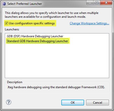 Standard GDB Hardware Debugging Launcher