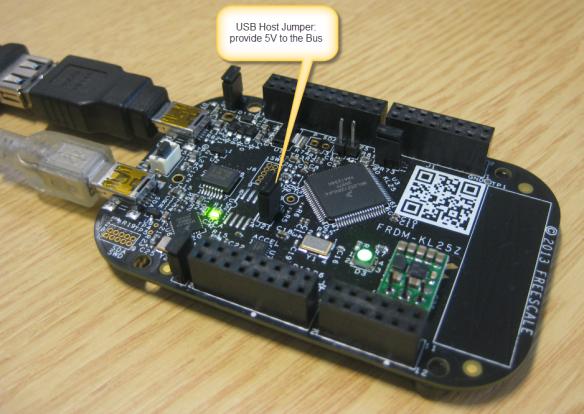 USB Host Jumper on the FRDM-KL25Z RevE