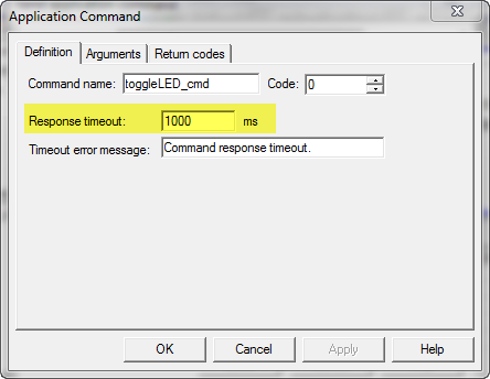 Application command timeout settings