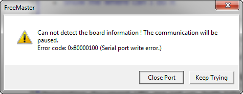 Can not detect the board information