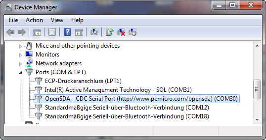 COM Ports Used in Windows Device Manager