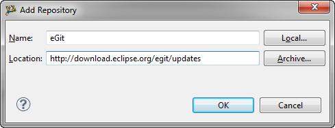 eGit Repository Location