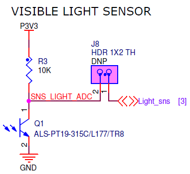 FRDM-KL46Z Ambient Light Sensor (Source: FRDM-KL46Z Schematics)