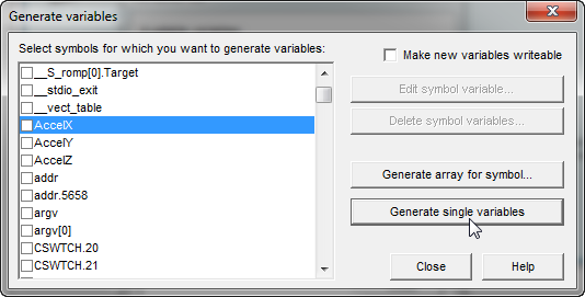 Generate Variable