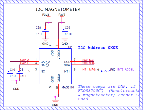 MAG3110 Magnetometer (Source: FRDM-KL46Z Schematics)