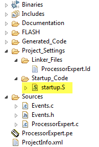 Replaced Startup Code