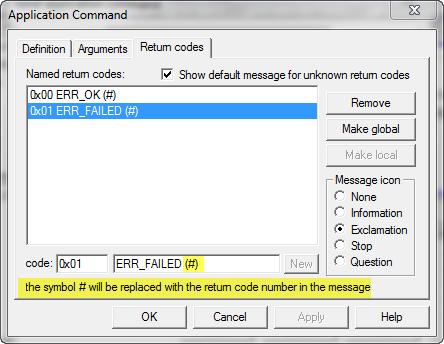 Return Code Symbol