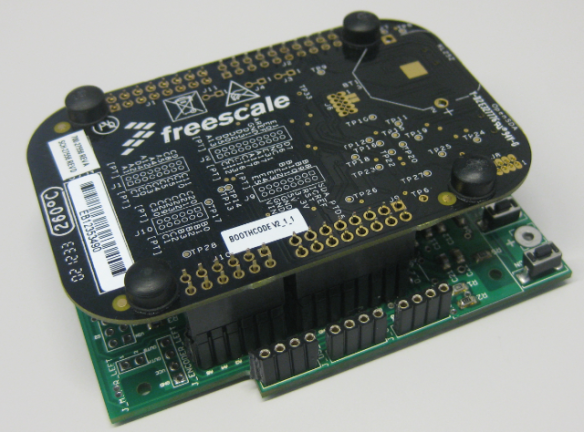 FRDM-KL25Z on top of the Robo Base Board