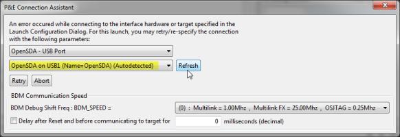 Refresh to find OpenSDA