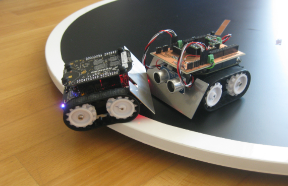 Mini sumo robot competition running with frdm kl z mcu