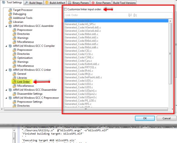 Customize link input order