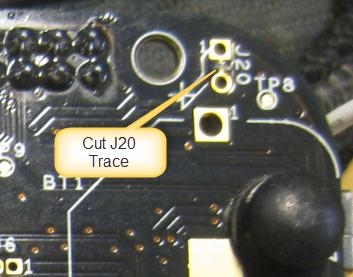Cut J20 Trace