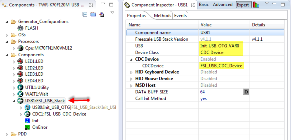 FSL_USB_Stack Configuration