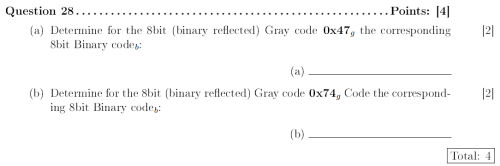 LaTeX Exam Example Questions