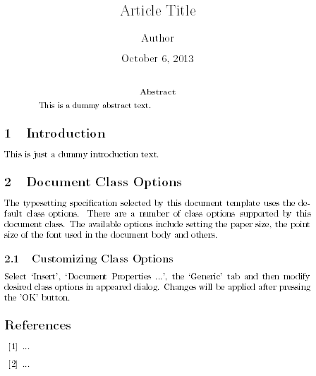 LaTeX Example Output