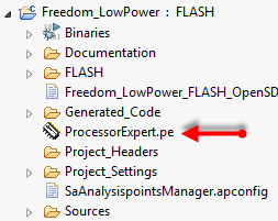 ProcessorExpert.pe File inside Project