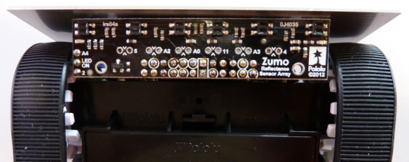 Zumo Reflectance Array mounted
