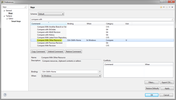 Compare With Other Resource Key Binding