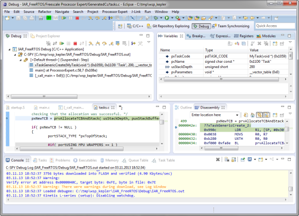 Debugging FRDM-KL25Z with C-SPY and Eclipse