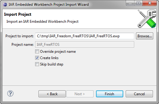 Embedded Workbench Project to Import into Eclipse
